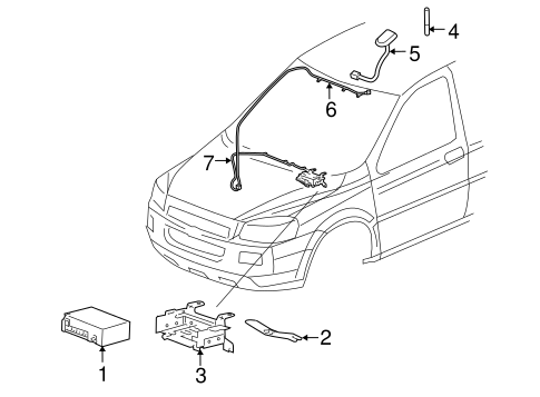 ELECTRICAL COMPONENTS for 2006 Pontiac Montana (SV6)