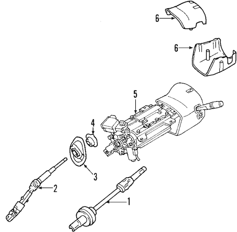 STEERING COLUMN for 2007 GMC Yukon XL 1500