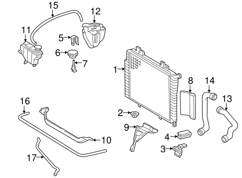 RADIATOR & COMPONENTS for 1996 Mercedes-Benz C220