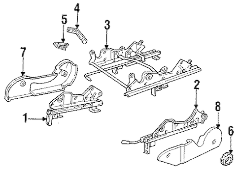 SEATS & TRACK COMPONENTS for 1995 Saturn SL2 (Base)