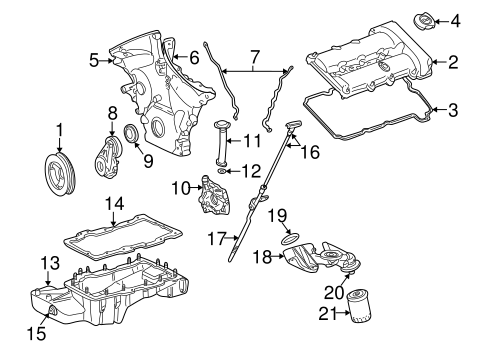 ENGINE PARTS for 2005 Ford Freestyle