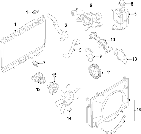 RADIATOR & COMPONENTS for 2006 Nissan Titan