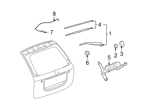 WIPER & WASHER COMPONENTS for 2009 Pontiac Torrent (Base)