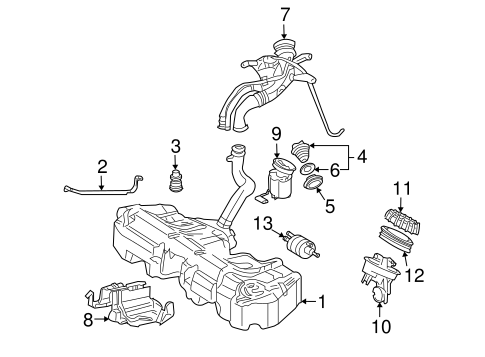 FUEL SYSTEM COMPONENTS for 2002 Mercedes-Benz C230