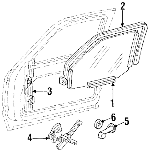 BODY/FRONT DOOR for 1989 Chevrolet K1500 Pickup #1