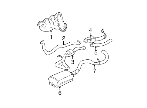 EXHAUST MANIFOLD for 2001 Chevrolet Suburban 2500