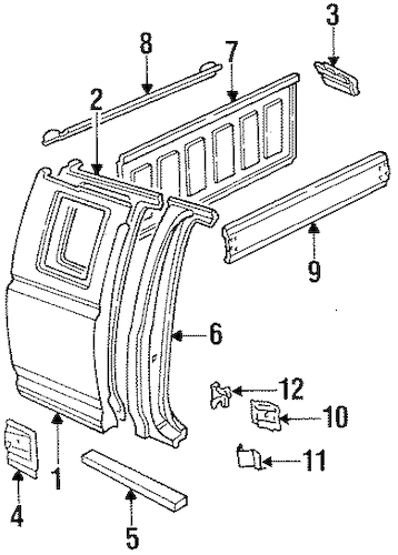 REAR PANELS for 1993 Ford F-150