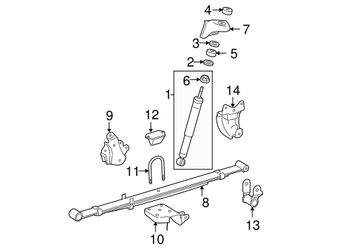 Genuine OEM REAR SUSPENSION Parts for 2006 Toyota Tacoma