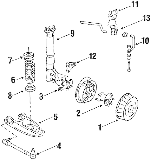 REAR SUSPENSION for 1988 Oldsmobile 98 (Regency Brougham)