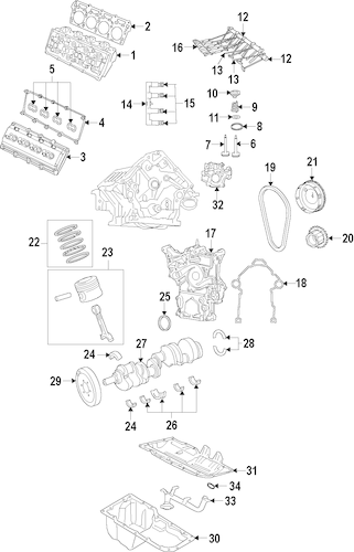 OIL PUMP for 2013 Jeep Grand Cherokee