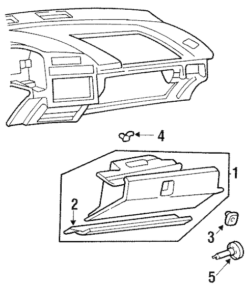 GLOVE BOX Parts for 2001 Chevrolet Lumina