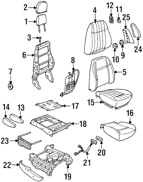 FRONT SEAT COMPONENTS for 1998 Oldsmobile Silhouette
