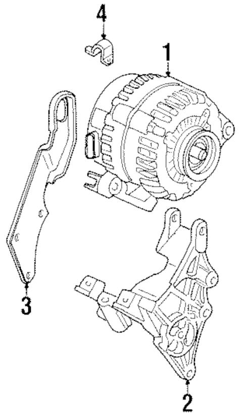 ALTERNATOR for 2001 Pontiac Grand Prix (GTP)