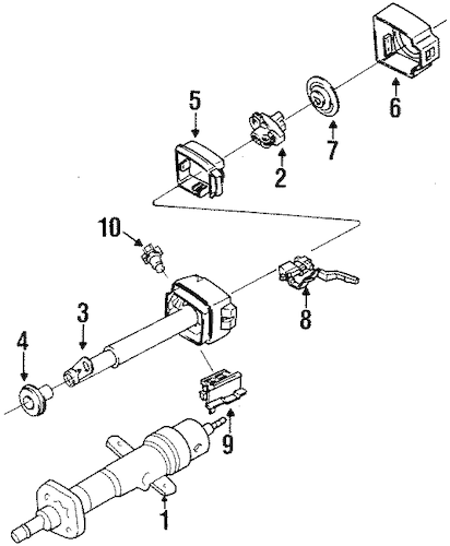 STEERING COLUMN ASSEMBLY for 1989 Chevrolet Beretta (Base)