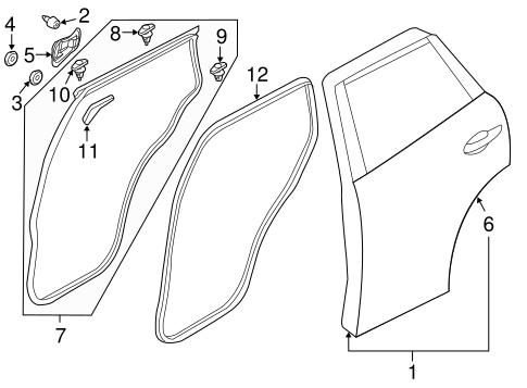 DOOR SHELL GROMMET for 2014 Mazda CX-5|BF67-51-261