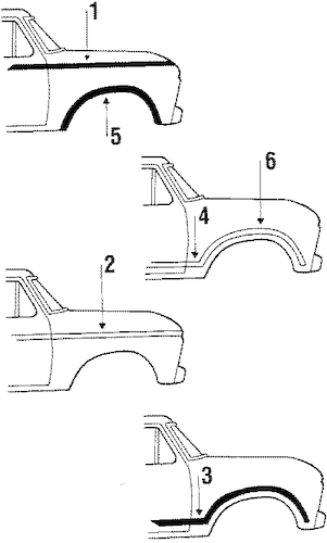 MOLDINGS for 1986 Ford F-150