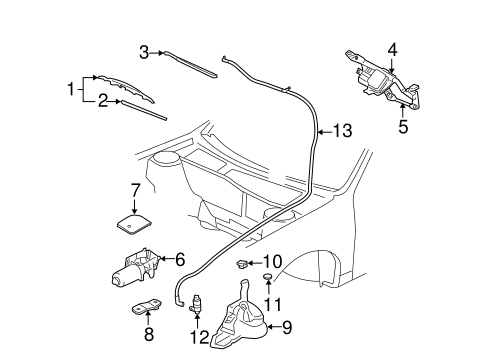 WIPER & WASHER COMPONENTS for 2004 Chevrolet Cavalier