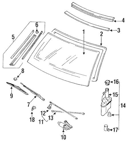 WIPER ARM for 1990 Mazda 323|BR71-67-321