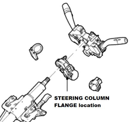 STEERING COLUMN FLANGE for 2010 Ford Focus|9L8Z-3511-A