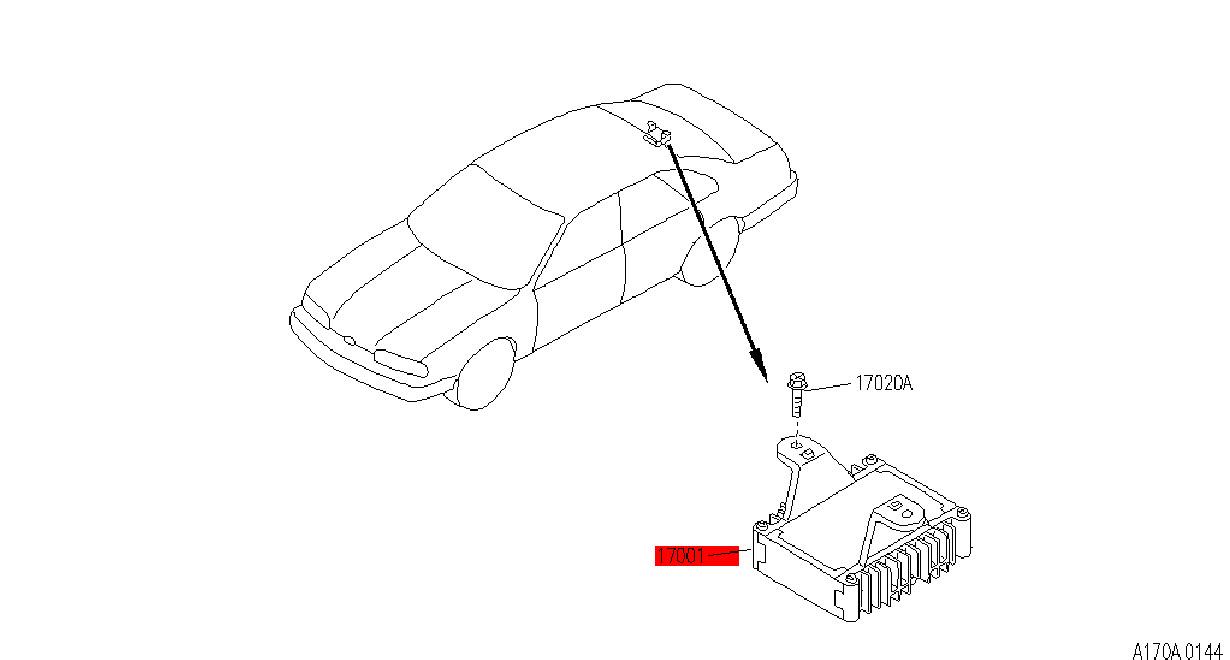 1990-1996 Infiniti Q45 Fuel Pump Control Modulator 17001