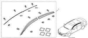 2018-2020 Honda Door Visors (Door Air Deflectors) Kit