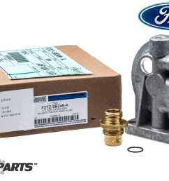 ford ford f250 f350 6 9l 7 3l idi diesel fuel filter housing header mix ford [ 3000 x 2003 Pixel ]
