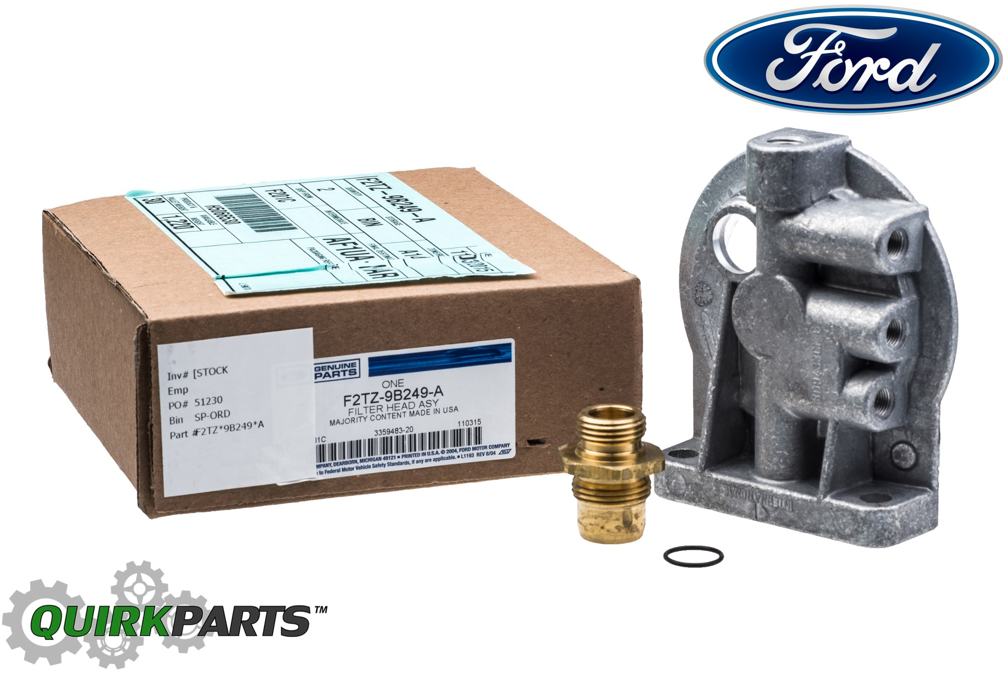hight resolution of ford ford f250 f350 6 9l 7 3l idi diesel fuel filter housing header mix ford