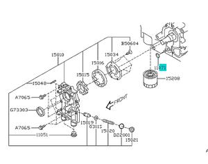 1999-2020 Subaru SEAL, RING [ BEHIND OIL PUMP ] item 11071