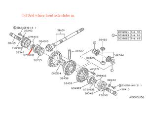 1997-2004 Subaru Oil Seal Passengers Side [ Manual Trans