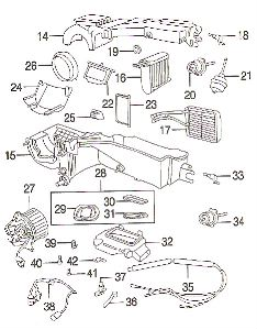 2001 Jeep Cherokee A/C And Heater Unit Seal Kit 4874071AB