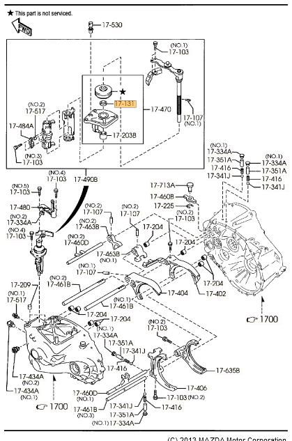 2008-2013 Mazda 3 Manual Transmission Shift Linkage Seal