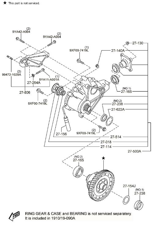 2007-2015 Mazda CX-9 Transfer Case-REMAN AW21-27-500R-9U