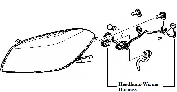 Genuine GM Headlamp Wiring Harness 15930264