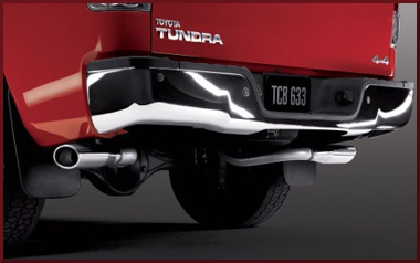 trd performance dual exhaust system chrome tailpipe kit only
