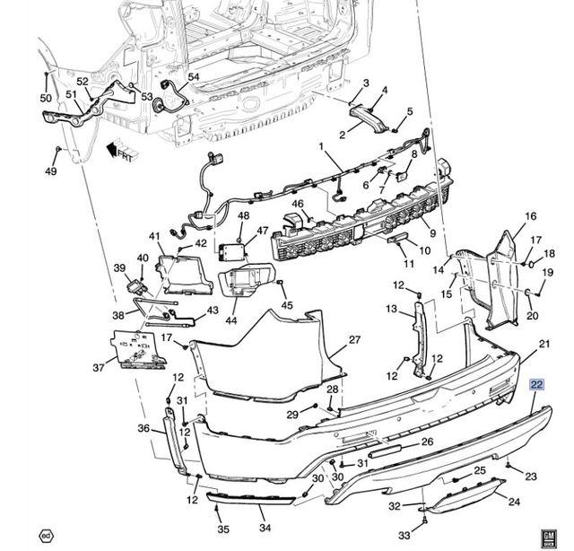 2017-2020 GMC Acadia Rear Skid Plate (EXTERIOR BRIGHT