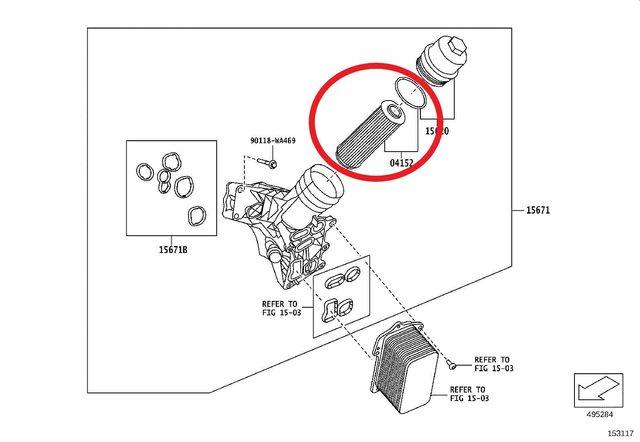 Genuine Toyota GR Supra MK5 MKIV Engine Oil Filter Element