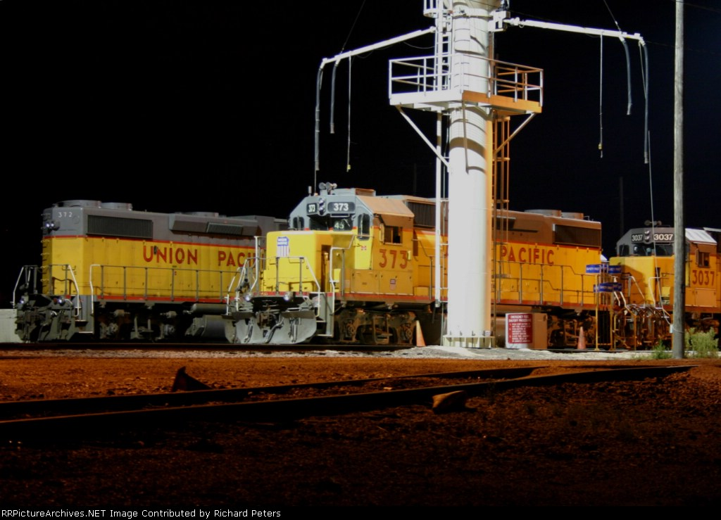 UP 373 at the sand tower- Butler Yard