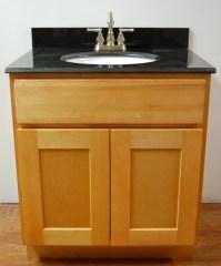 Natural Shaker Bathroom Vanities - RTA Cabinet Store