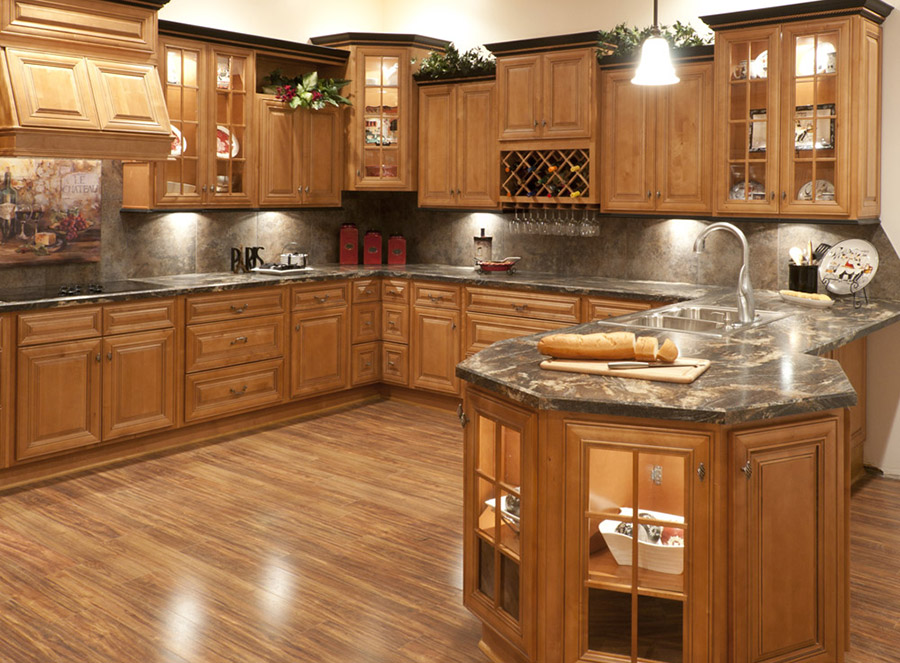 kitchen cabinet images spacing butterscotch glazed cabinets rta store home