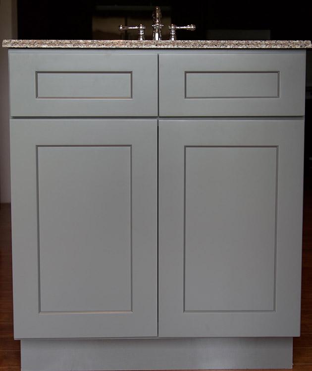Stone Grey Shaker Bathroom Vanities  RTA Cabinet Store