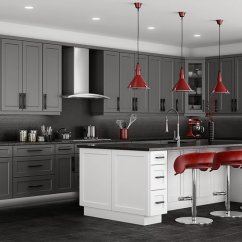 Grey Kitchen Cabinets Cream Colored Appliances Stone Shaker Rta Cabinet Store Up To 40 Off Retail