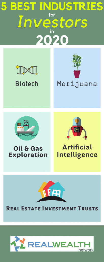 5 Best Industries for Investors in 2020 infographic