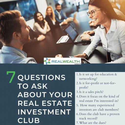 Image Highlighting 7 Questions to Ask About Your Real Estate Investment Club