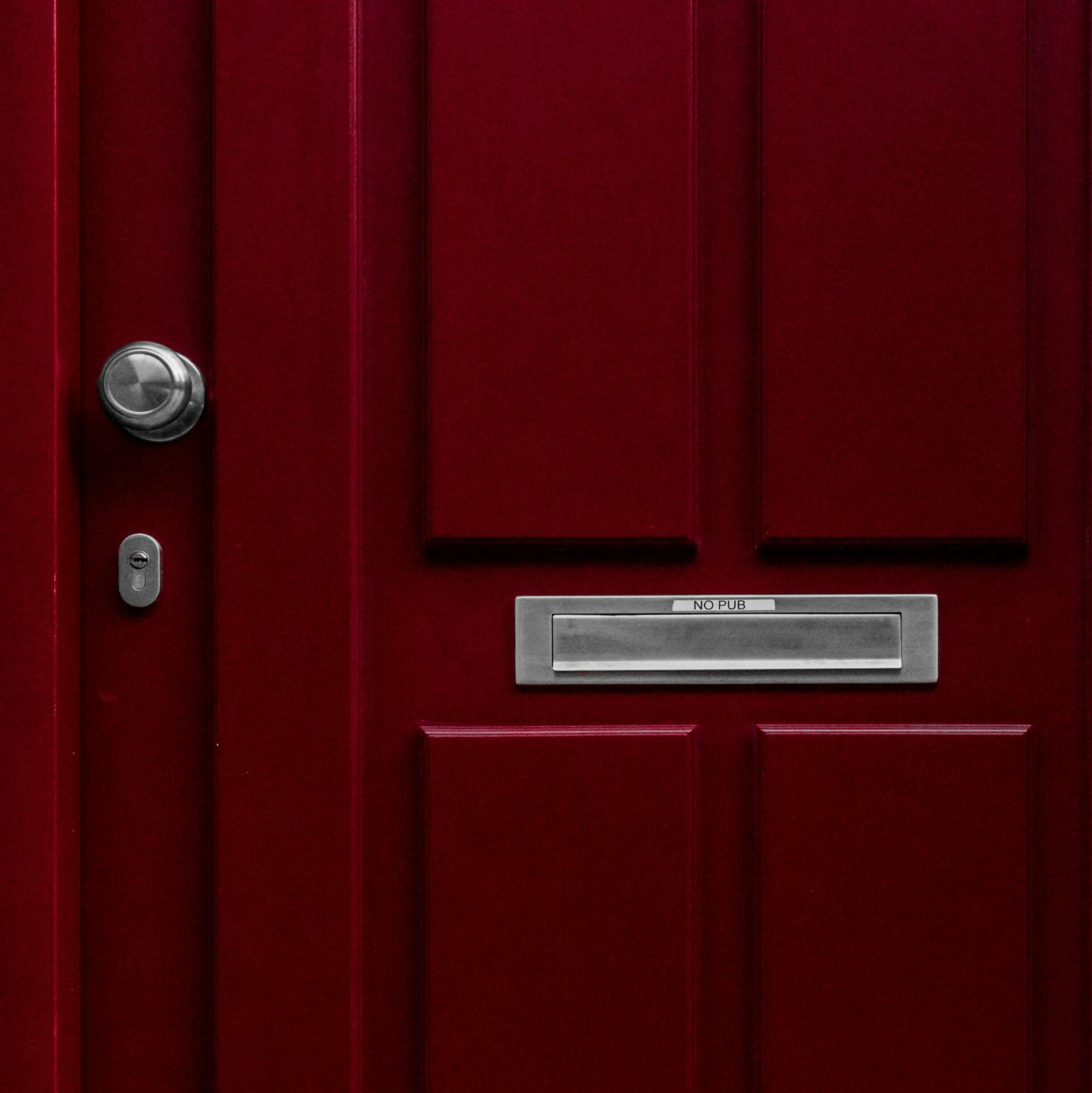 Picture of red door with letterbox for Real Wealth Show Podcast Episode #681