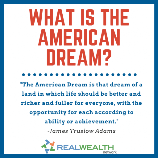 Image highlighting What is the American Dream?