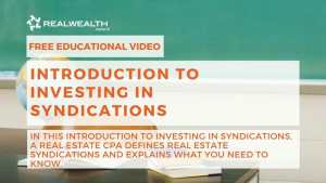Introduction to Investing in Syndications
