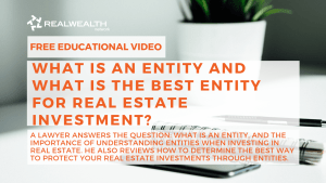 What is An Entity and What is the Best Entity for Real Estate Investment?