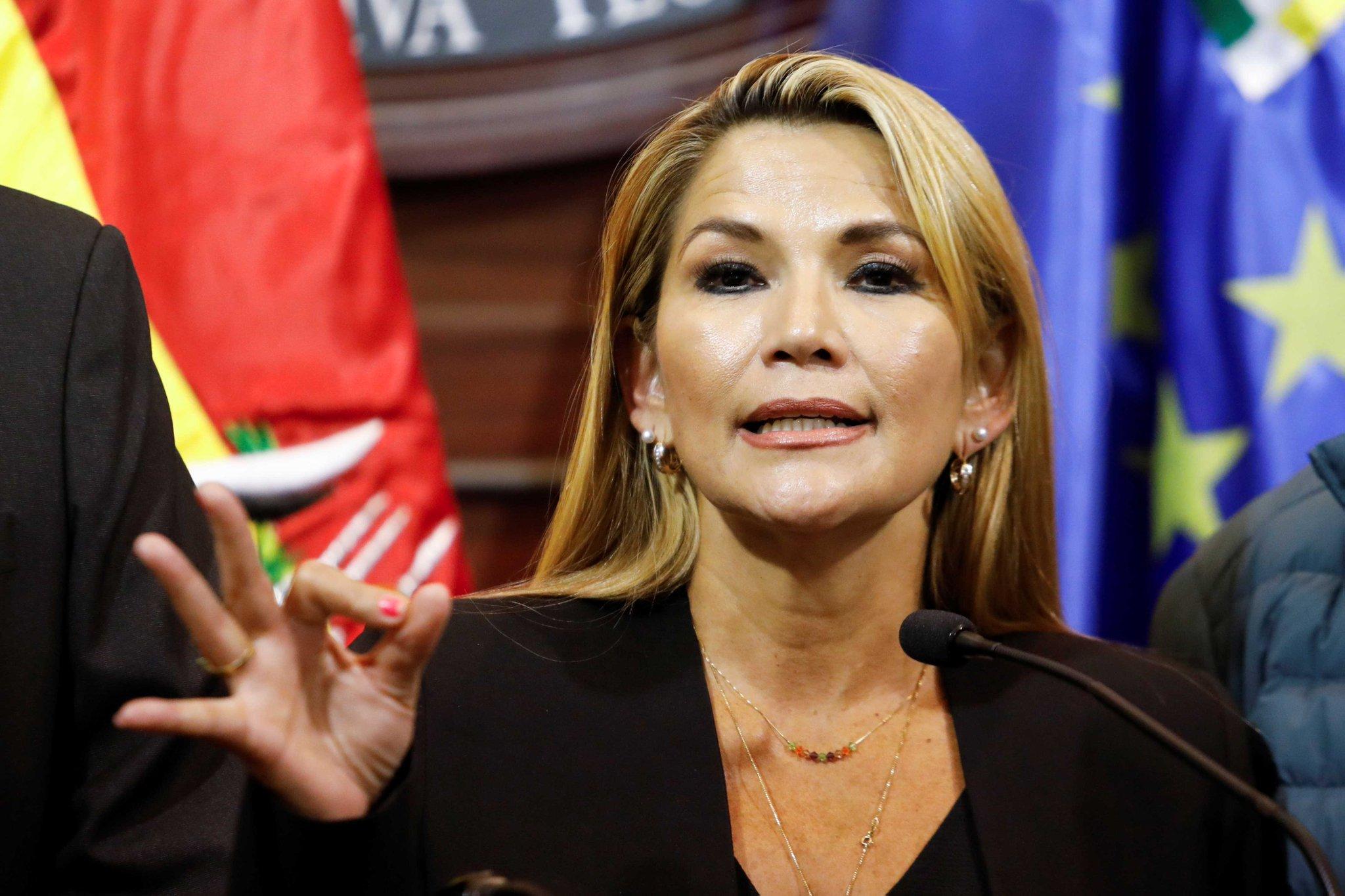JEANINE ÁÑEZ, PRESIDENTA DE BOLIVIA, DIO POSITIVO POR COVID-19