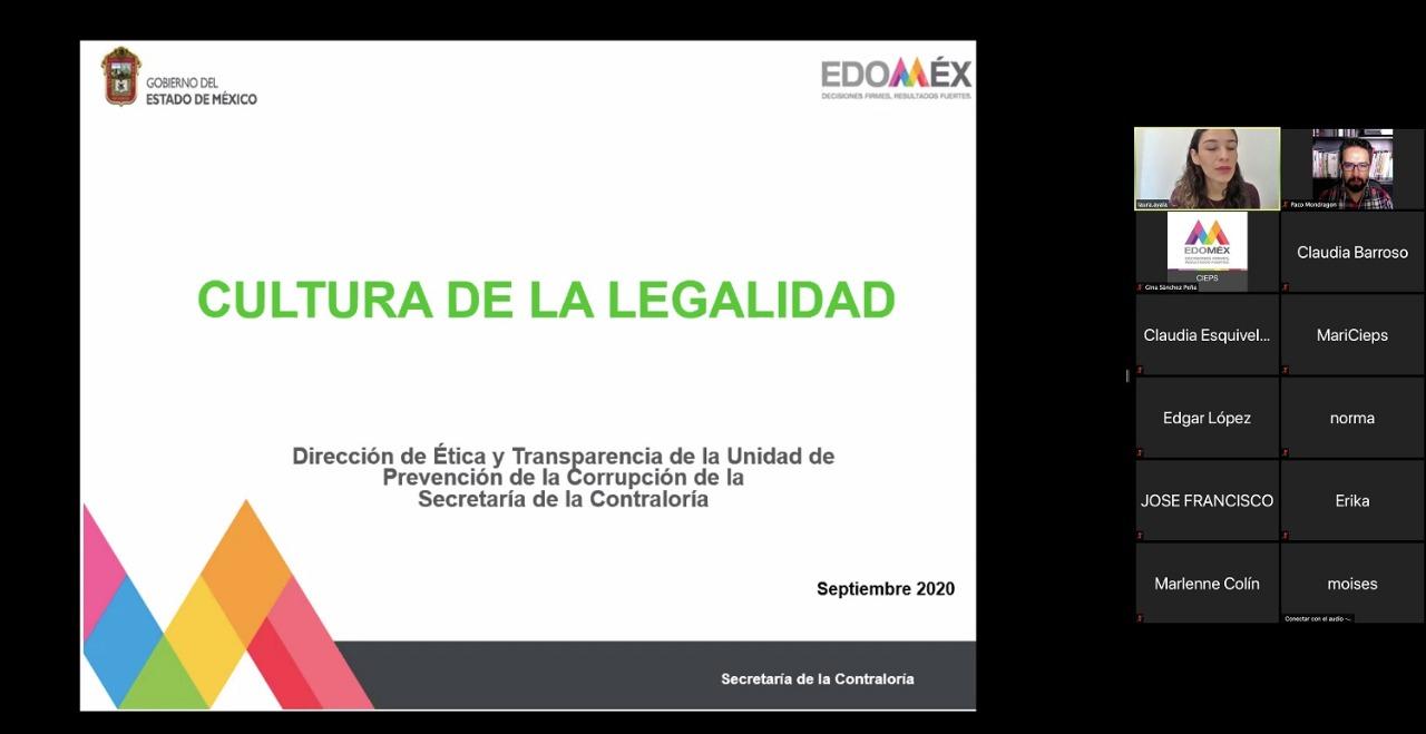 CAPACITA CIEPS A SERVIDORES PÚBLICOS EN CULTURA DE LA LEGALIDAD