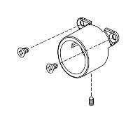 VON DUPRIN 112409 US28 CD-CX Cylinder Dog Housing US28 Finish